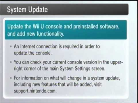 Let's Play Wii U System Update