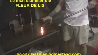 Glass blowing soft/borosilicate die masher 2.wmv