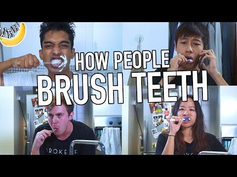 How People Brush Teeth