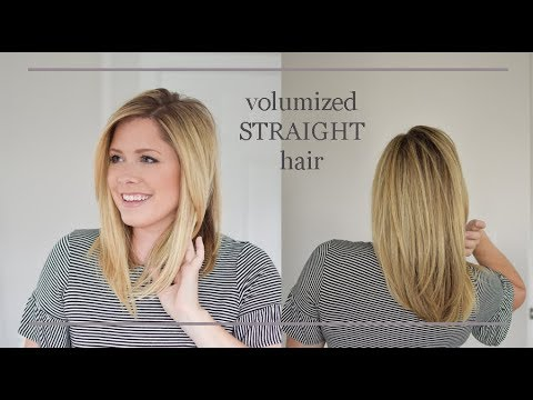 How To Flat Iron Your Hair With Volume No Flat Hair Here Folks Youtube