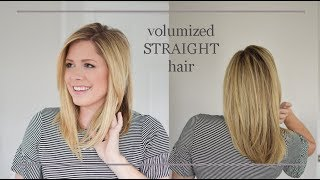 How to flat iron your hair with VOLUME! No flat hair here folks.
