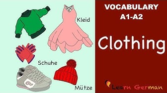 Learn German | German Vocabulary | die Kleidung | Clothes | A1