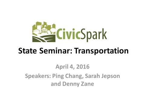 CivicSpark State Seminar: Transportation