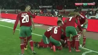 ملخص و  أهـداف مباراة المـغرب 3 1 غينيا   هاتـريك الـكـعبي  بطولة أفريقيا للاعبين المحليين 2018