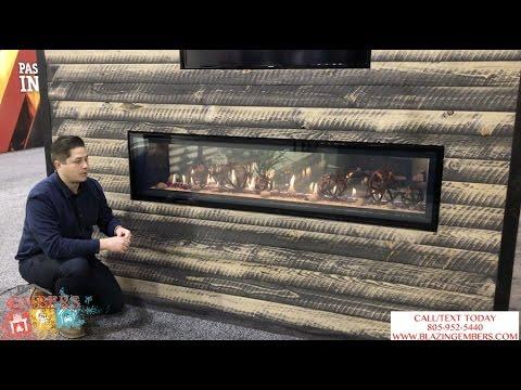 Napoleon Luxuria Linear Gas Fireplace Dual Glass Cool