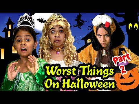 Worst Things Halloween Part 2 - Halloween Comedy - Halloween Kids 2017 - YouTube Kids // GEM Sisters