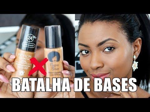 BASE NEGRA ROSA X BASE REVLON | BATALHA DE BASE Camila Nunes
