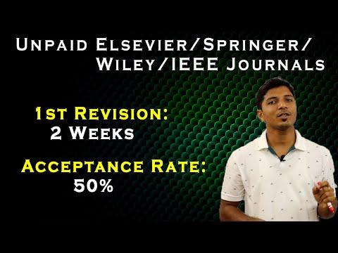 Unpaid Elsevier/Springer/Wiley/IEEE Journals II High Acceptance Rate II Journal Finder