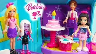 Barbie Birthday Party Time Build 'n Style Lego Mega Bloks Playset Friends Cake Presents Set