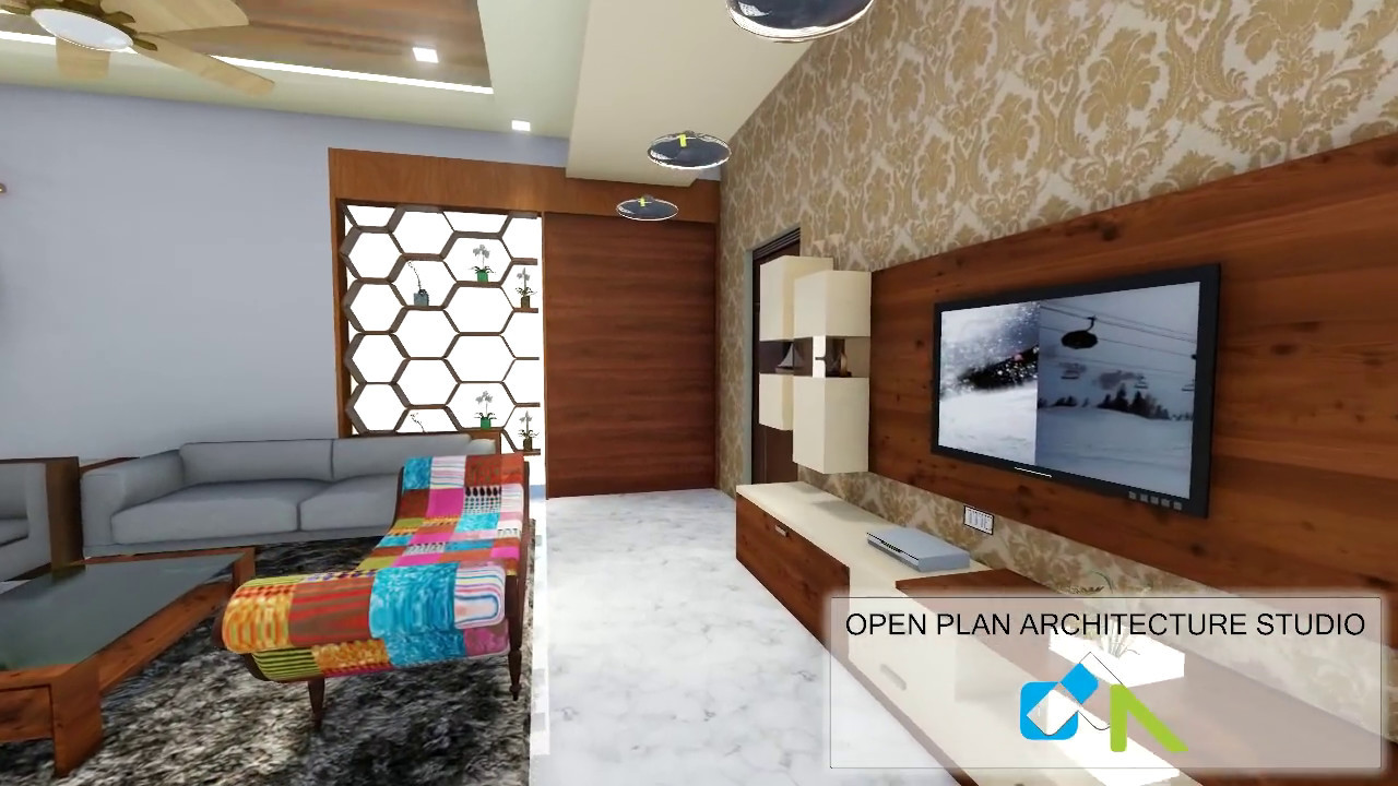 Interior Design Drawing Room Open Plan Architecture