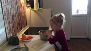 Малышка готовит # тыквенно-морковный суп-пюре