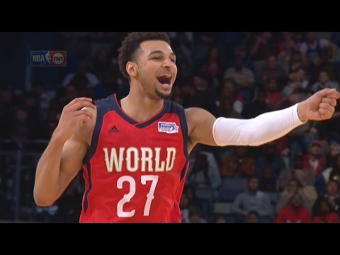 NBA All-Star Rising Stars Challenge 2017 World vs USA! Jamal Murray MVP