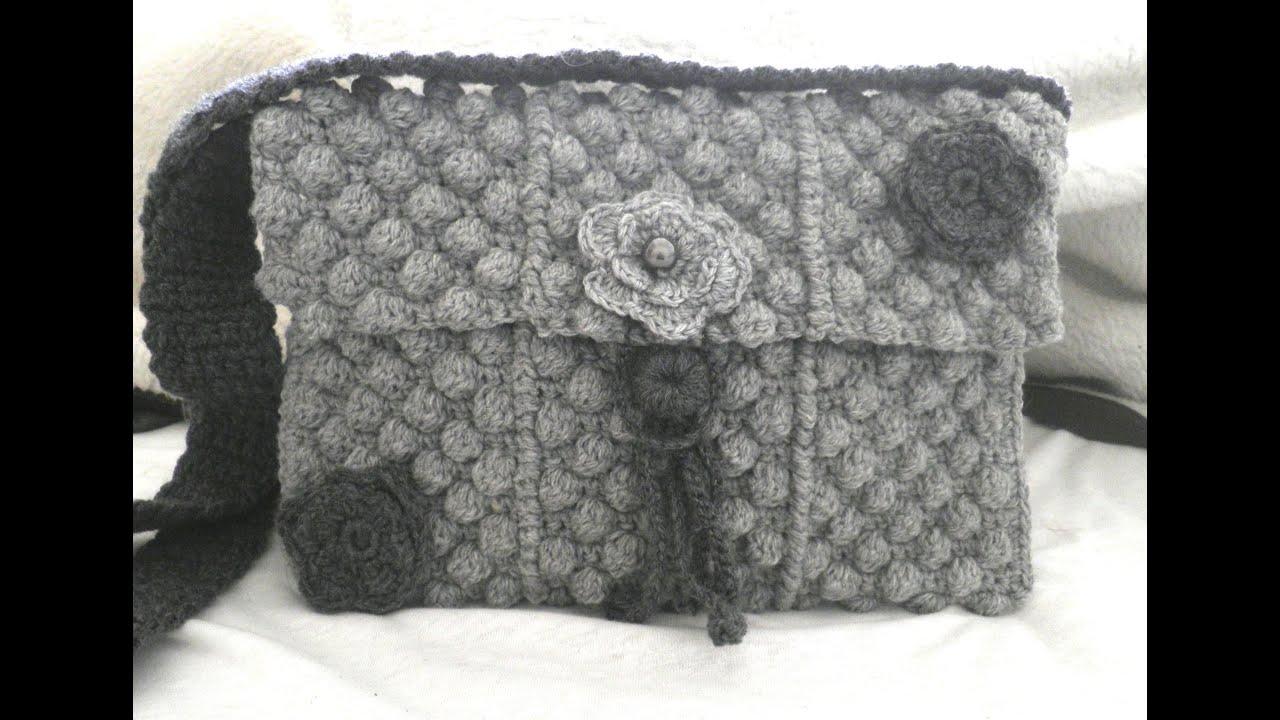 English Tutorial Easy Crochet Bag Step By Step Youtube
