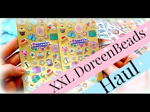 xxl doreenbeads shopping haul video online shop einkauf sticker bastelbedarf youtube. Black Bedroom Furniture Sets. Home Design Ideas
