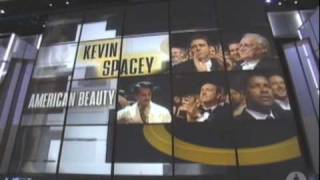 "Kevin Spacey winning Best Actor for ""American Beauty"""
