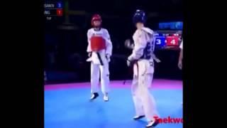 Knock down  taekwondo #learn taekwondo @ karoon taekwondo Academy