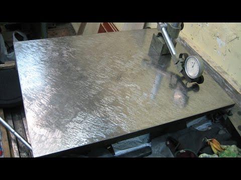 Шабровка поверочной плиты - титанический труд