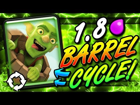 FASTEST GOBLIN BARREL DECK EVER!! 1.8 CYCLE!! THIS IS INSANE!