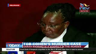 Tob Cohen's Murder: Court ruling on Sarah Wairimu's bail