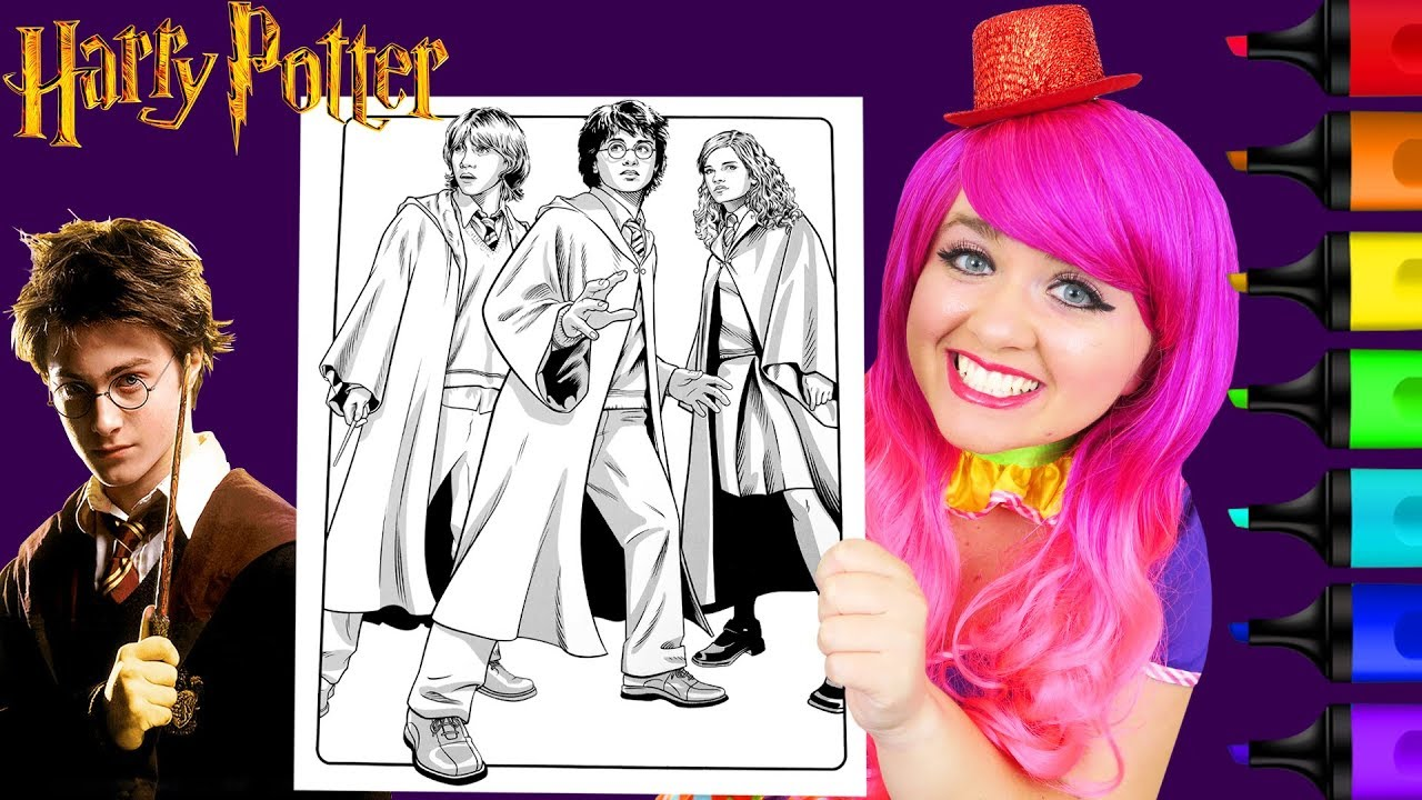 Coloring Harry Potter, Ron & Hermione Crayola Coloring Page ...