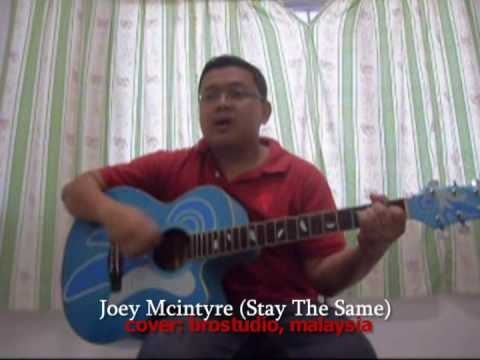 Joey Mcintyre - stay the same (cover brostudio) - YouTube