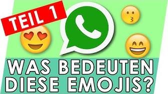 Emojis Bedeutung erklärt - Teil 1 😍😚😄 Whatsapp Emojis und Smileys