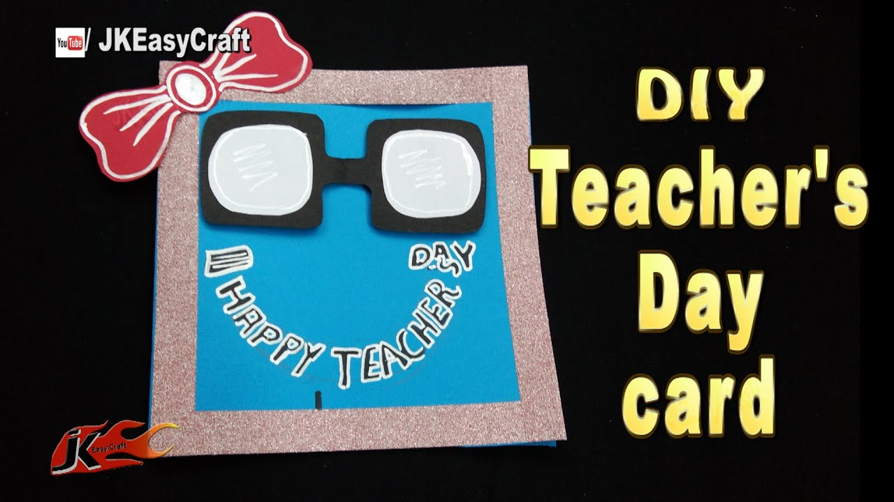 diy easy chalkboard card for teacher's day  jk easy craft