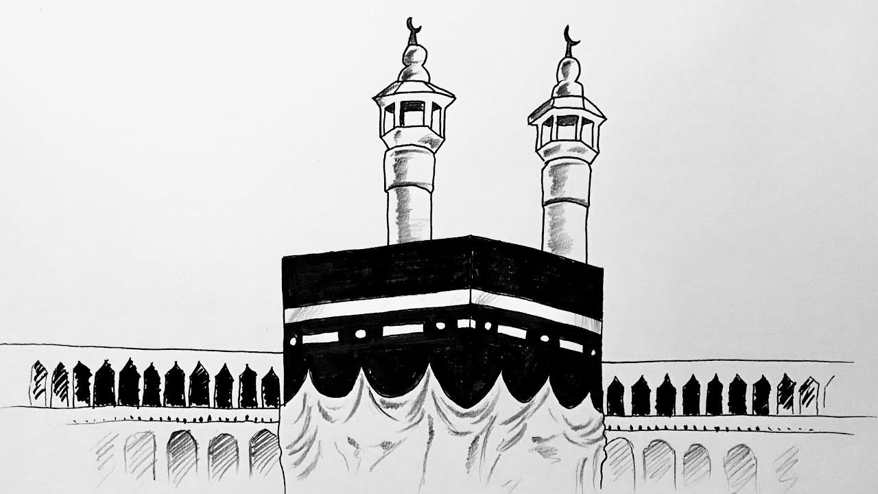 Kabe Çizimi Kolay - How to draw Kaaba Step by Step ( Mecca )
