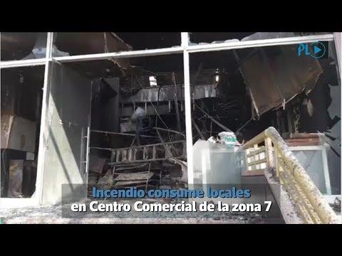 Incendio consume locales en Centro Comercial en la zona 7 capitalina | Prensa Libre