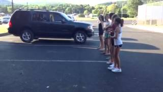 Playing red rover with friends