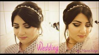 Bridal wedding hair and makeup tutorial / Свадебная прическа  и макияж  дома /