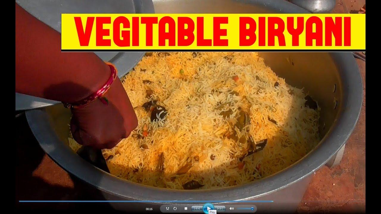 Learn Veg Biryani Veg Biryani Recipe 5 Kg Veg Biryani For 40 Members Semi Veg Biryani
