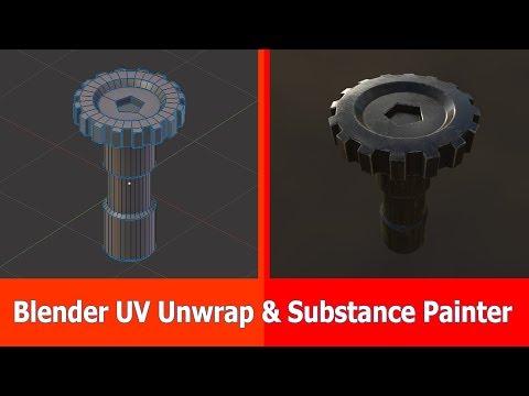 Blender UV Unwrap & Substance Painter Texturing
