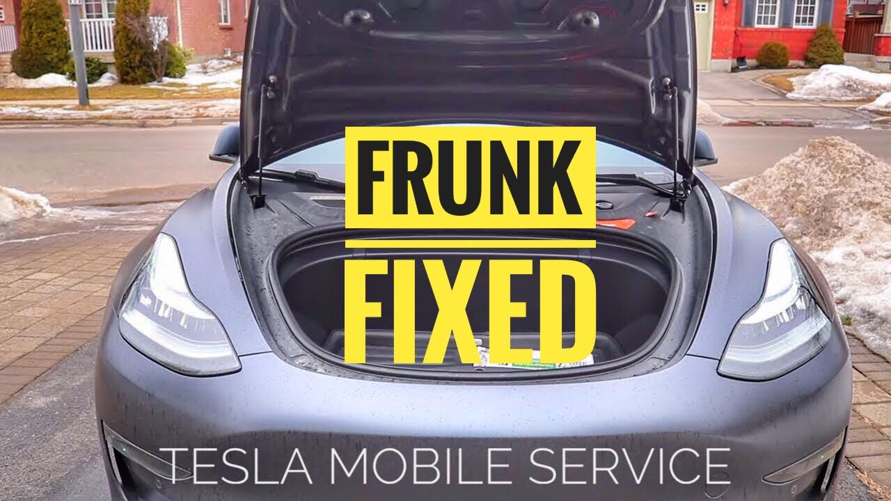 Model 3 Frunk Fixed by the Tesla Mobile Service