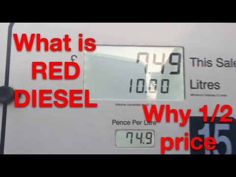 what is red diesel ? gas oil ? cut your running cost by half well all most  half