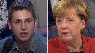 ARD-Wahlarena: Kritsiche Frage einen Azubi an Merkel zur Pflege