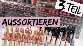 MAKE UP SAMMLUNG DECLUTTER TEIL 3 | Lippenstifte & Liquid Lipsticks aussortieren