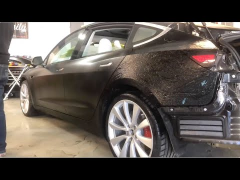 Expel Stealth Paint Protection Film on Tesla Model 3 with ppf touch up tips