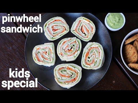 Pin Wheel Sandwich Recipe - Kids Recipes   Pinwheel Sandwich   Pinwheel Sandwiches