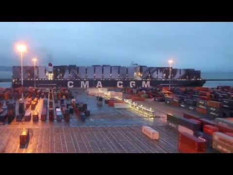 JR Artist turns a CMA CGM ship into a gigantic work of art