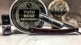 Tallow+Steel with Chatillon Lux Yazu/Rose/Patchouli, Gold Monkey Straight and a Stropping Tutorial