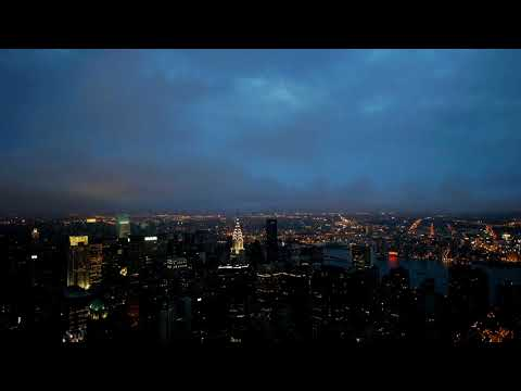 [10 Hours] Manhattan, NY Night Time Lapse - Video & Audio [1080HD] SlowTV
