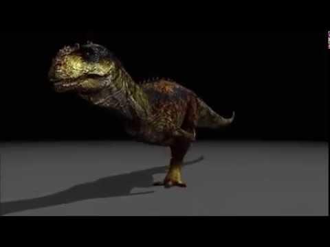 Mesozoica Majungasaurus Walk Test Sounded