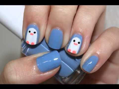 Cute nail art ideas for winter - YouTube