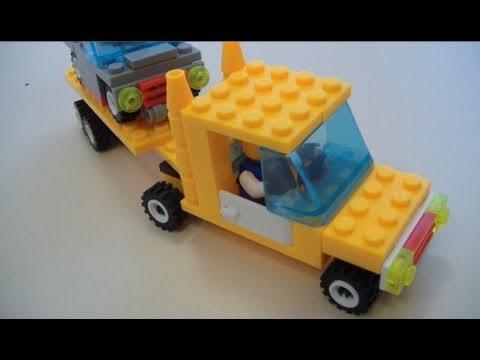 видео: Делаем мини-грузовик с прицепом из Лего