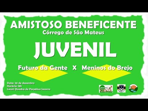 TV CÓRREGO - Amistoso beneficente Juvenil