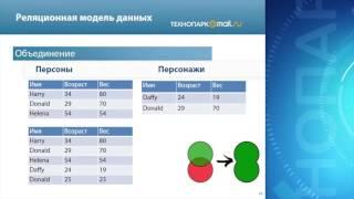Лекция 22: Реляционная база и модель данных