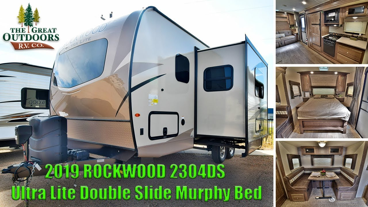 Small Camper With Slide Out >> 2019 ROCKWOOD 2304DS Ultra Lite Double Slide Murphy Bed Camper RV Colorado Dealer - YouTube