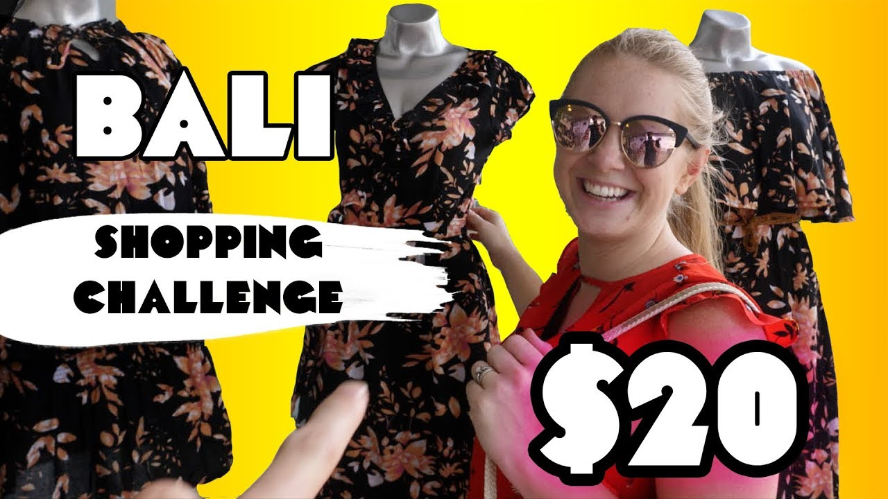 b0686aac6de SHOPPING CHALLENGE Seminyak BALI! Buying each other  20 USD Outfits ...