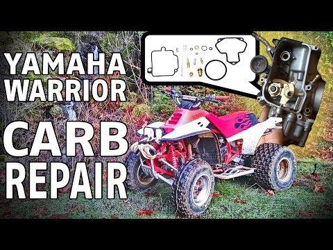 YAMAHA WARRIOR ATV CARB CLEAN, REPAIR AND REBUILD - CARBURETOR FUEL SYSTEM TUNE UP